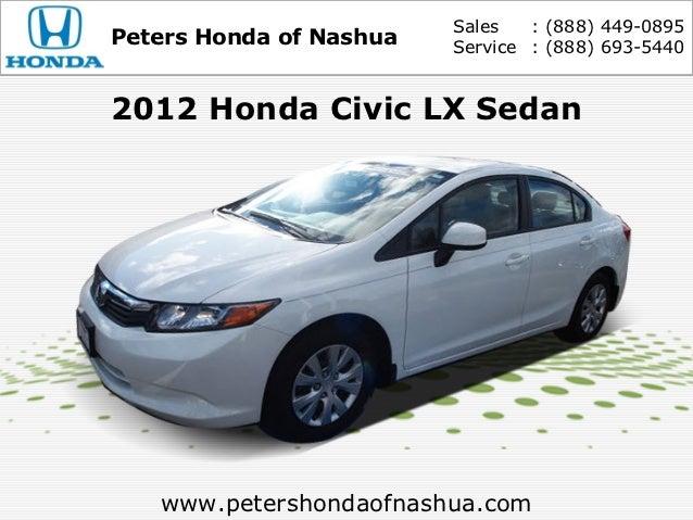 Used 2012 Honda Civic LX Sedan - Peters Honda of Nashua NH Serving