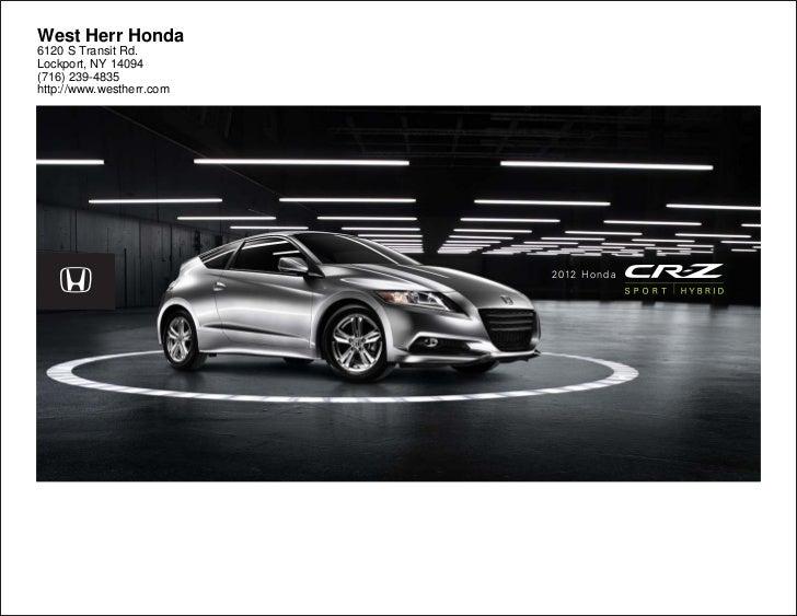 2012 honda cr z for sale ny honda dealer near buffalo for Honda dealers wny