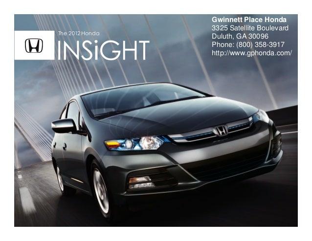 2012 honda insight for sale ga honda dealer serving atlanta for Honda dealer duluth ga