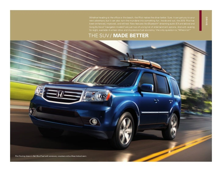 2012 honda pilot brochure honda dealer serving merrillville for Long beach honda dealer