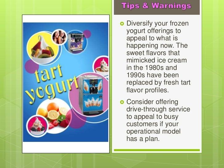 A Sample Self-Serve Frozen Yogurt Business Plan Template
