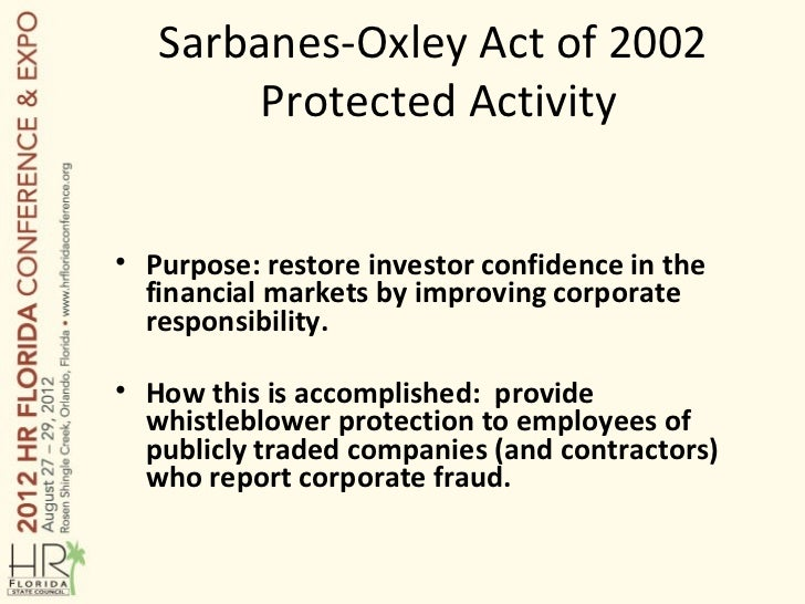sox act and purpose of pcaob Summary of the sarbanes-oxley act of 2002 the sarbanes-oxley act of 2002 home / the sarbanes-oxley act – summary stated purpose.