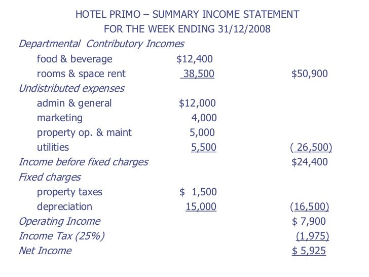 ... OPERATING INCOME; 34.  Proper Income Statement Format