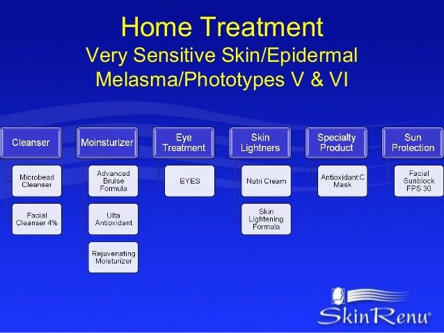 Home TreatmentVery Sensitive Skin/Epidermal Melasma/Phototypes V & VI