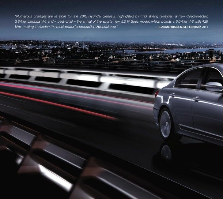 2012 Hyundai Genesis EBrochure Glenbrook Hyundai Happy Car Store Fort Wayne