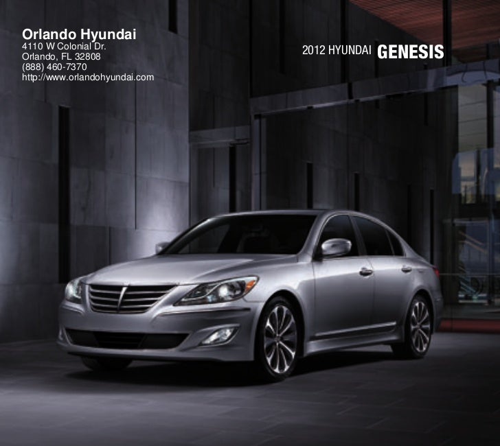 Orlando Used Cars For Sale: 2012 Hyundai Genesis For Sale FL