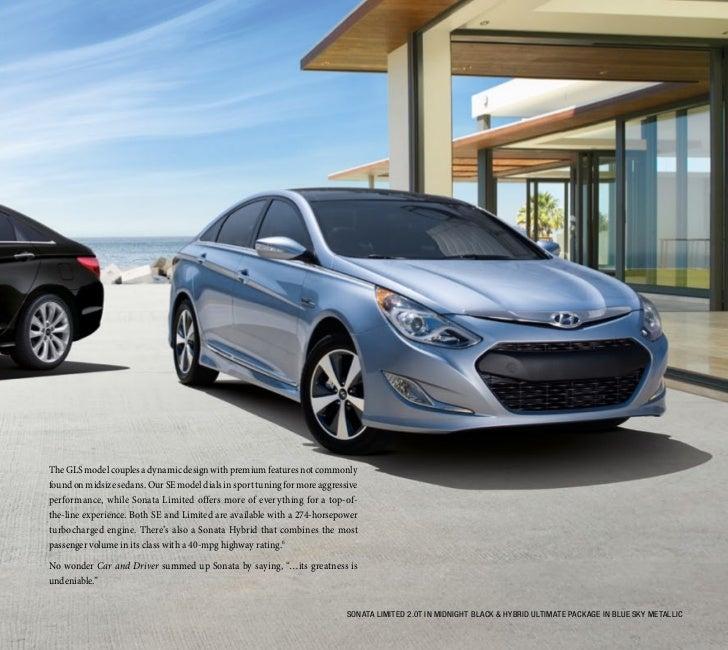Hyundai Hybrid Sonata: 2012 Hyundai Sonata / Hybrid / Turbo EBrochure Glenbrook