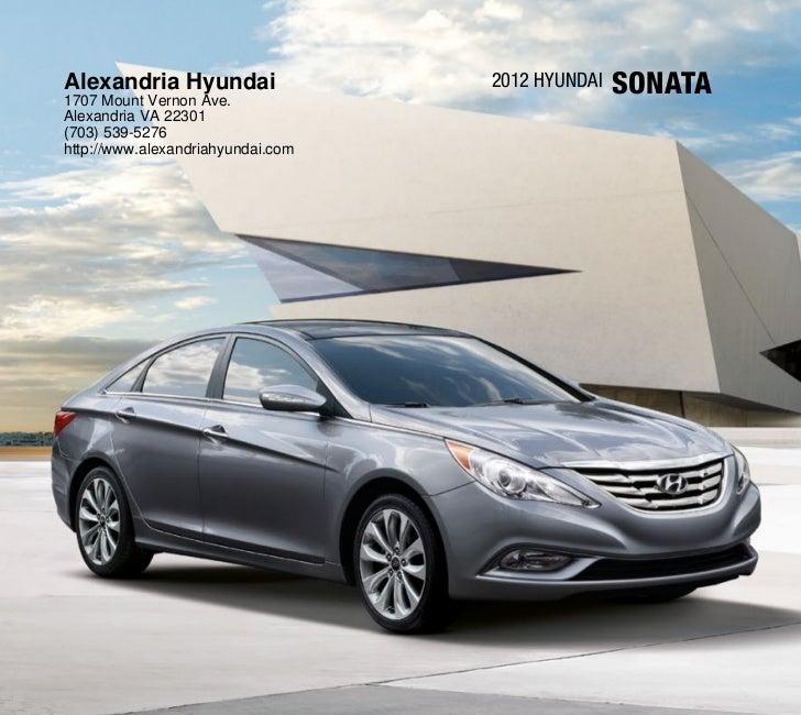 2012 Hyundai Sonata For Sale Va Hyundai Dealer In Alexandria