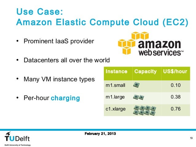 Use Case:Amazon Elastic Compute Cloud (EC2)• Prominent IaaS provider• Datacenters all over the world                      ...