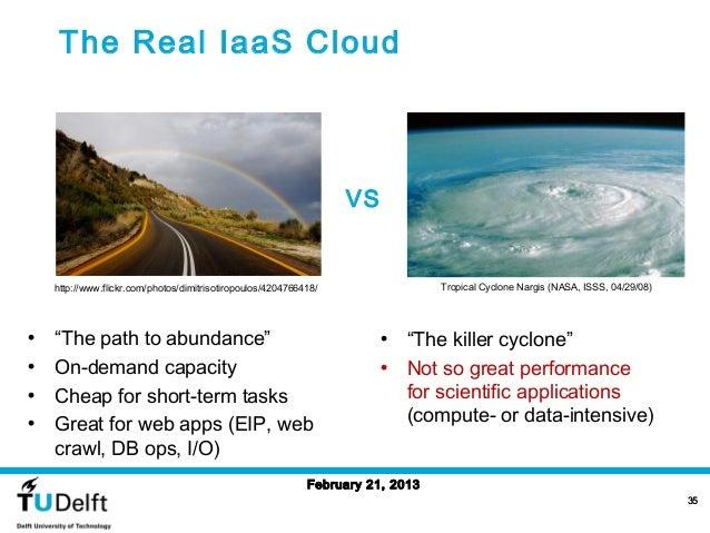 The Real IaaS Cloud                                                                   VS    http://www.flickr.com/photos/d...