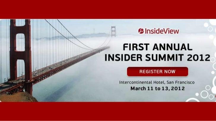 Insider Summit 2012Session Owner KickoffFebruary 15, 2012
