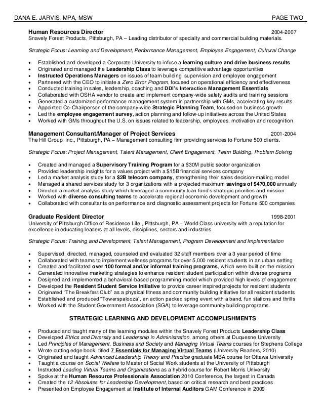 2013 jarvis resume veteran engagement leader