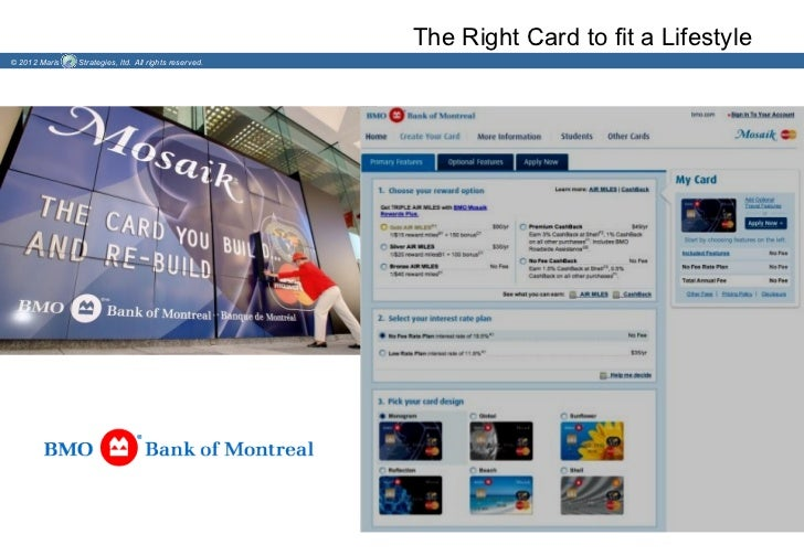 The Right Card to fit a Lifestyle© 2012 Maris   Strategies, ltd. All rights reserved.