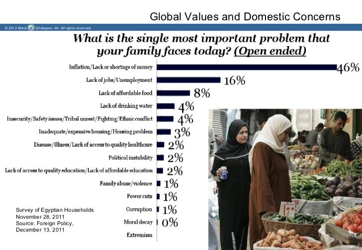 Global Values and Domestic Concerns© 2012 Maris   Strategies, ltd. All rights reserved.     Survey of Egyptian Households ...