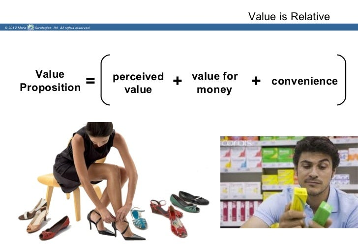 Value is Relative© 2012 Maris   Strategies, ltd. All rights reserved.           Value                                     ...