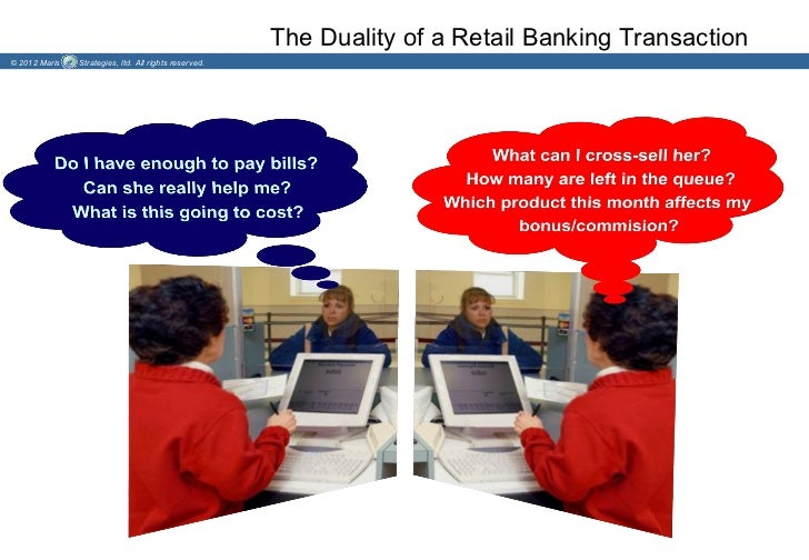 The Duality of a Retail Banking Transaction© 2012 Maris   Strategies, ltd. All rights reserved.