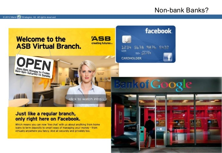 Non-bank Banks?© 2012 Maris   Strategies, ltd. All rights reserved.