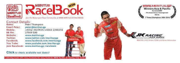 Winners Asia & Pacific                                                        Formula BMW                                 ...