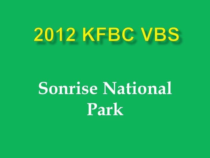 Sonrise National      Park