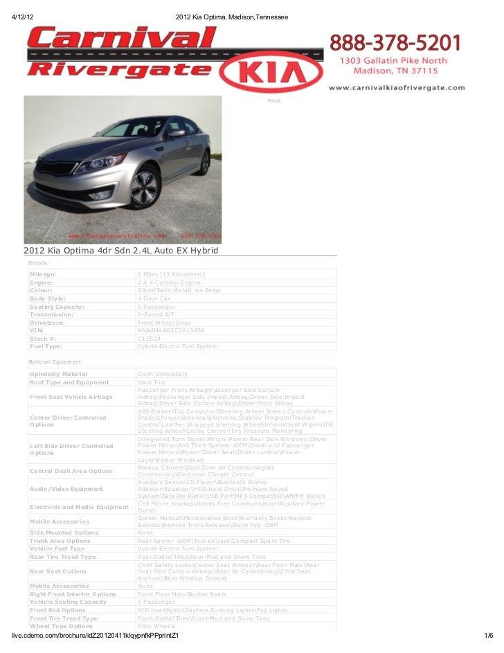4/12/12                                            2012 Kia Optima, Madison,Tennessee                                     ...