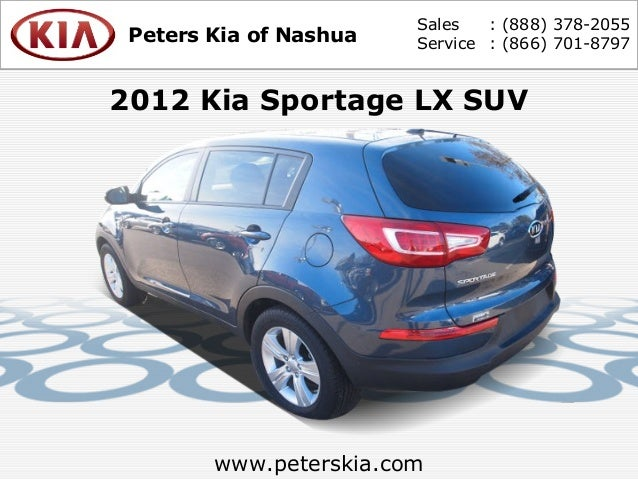 used 2012 kia sportage lx peters kia of nashua nh. Black Bedroom Furniture Sets. Home Design Ideas