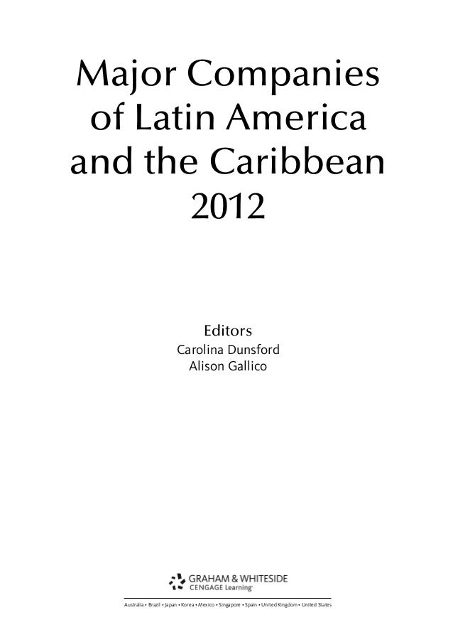 2012 Major Companies Of Latin America And The Caribbean 2012