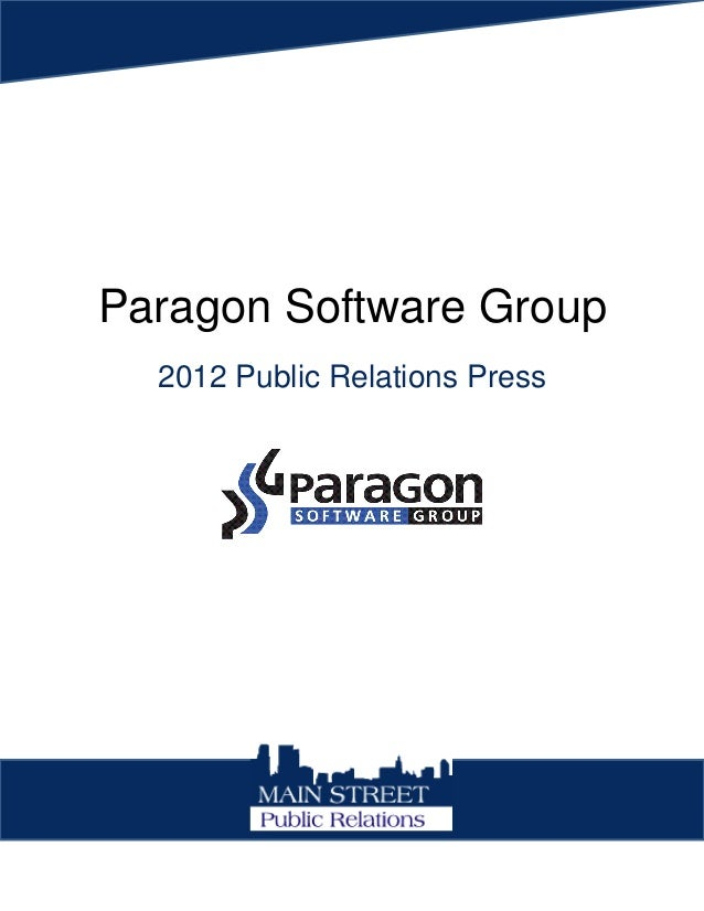 Paragon Software Group 2012 Public Relations Press