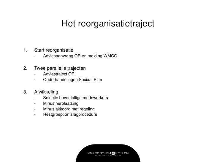 opzet ontslagbrief 2012 Masterclass Reorganiseren opzet ontslagbrief