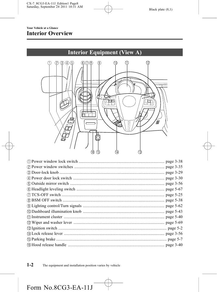 2012 Mazda Cx7 Crossover Suv Owners Manual Provided By Naples Mazdarhslideshare: Mazda Cx 9 Suspension Schematic At Elf-jo.com