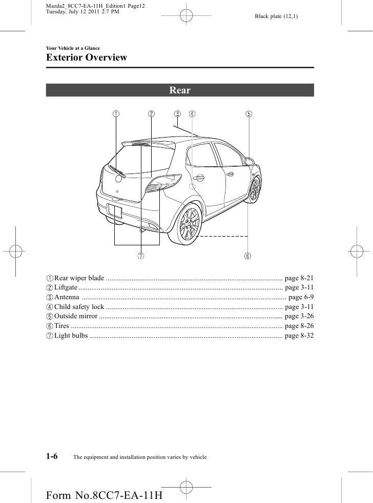 2012 Mazda Mazda2 Hatchback owners manual provided by naples mazda