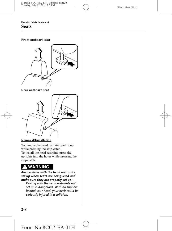 2009 mazda 2 owners manual