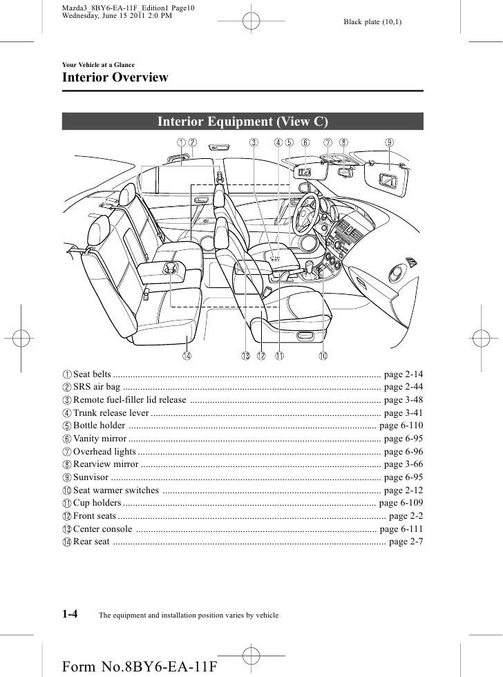 2012 mazda mazda3 sedan and hatchbackowners manual provided by naples rh slideshare net mazda 3 user manual mazda 3 user manual 2015