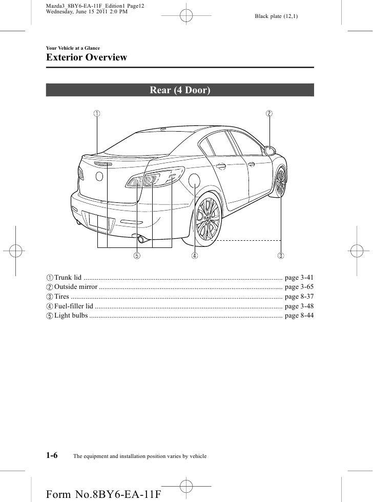 2012 mazda mazda3 sedan and hatchbackowners manual provided by naples rh slideshare net 2011 mazda 3 owners manual pdf 2011 mazda 3 owners manual pdf
