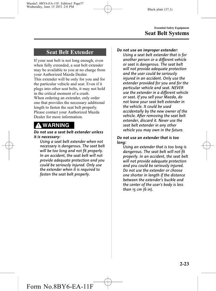 2012 mazda 3 owners manual
