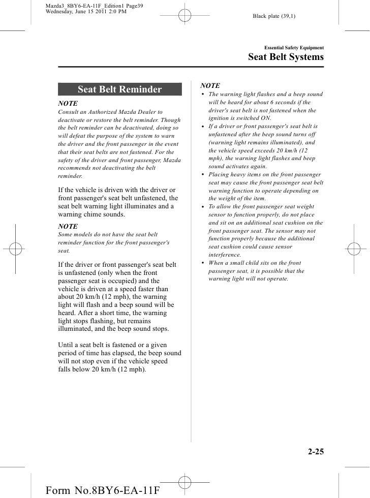 2012 mazda 3 owners manual pdf