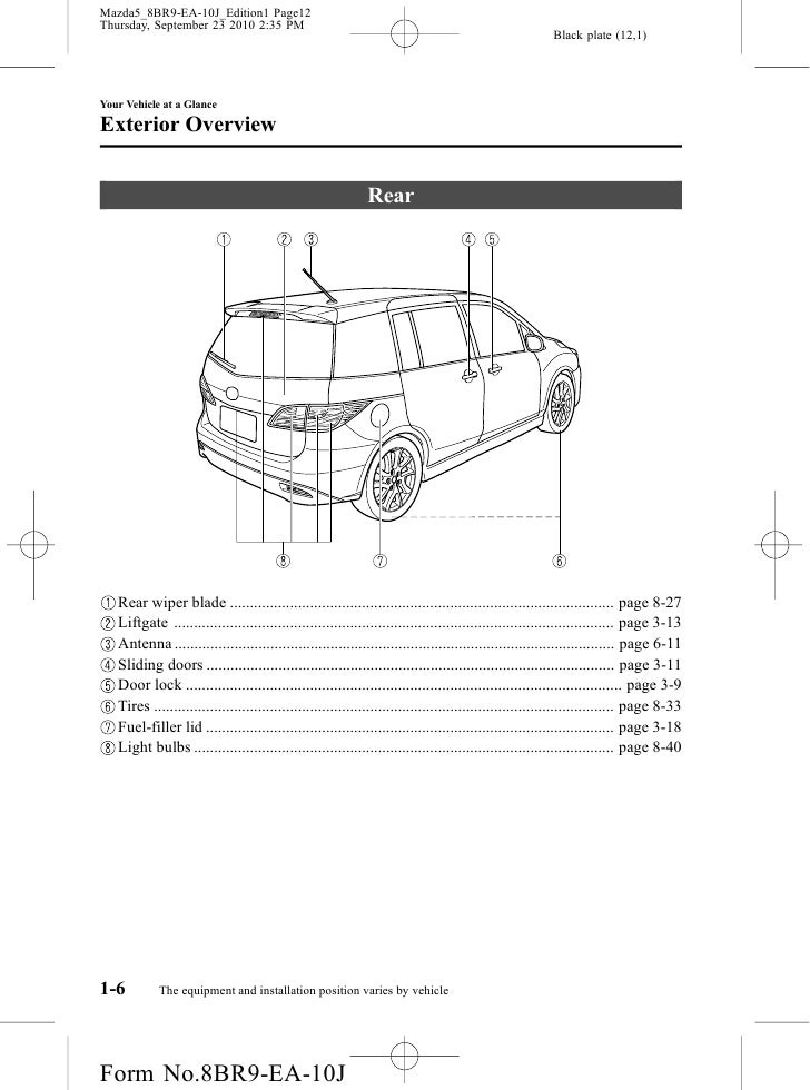 2012 Mazda Mazda5 Minivan owners manual provided by naples mazda