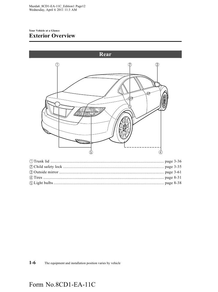 mazda mazda sedan owners manual provided by naples mazda 12