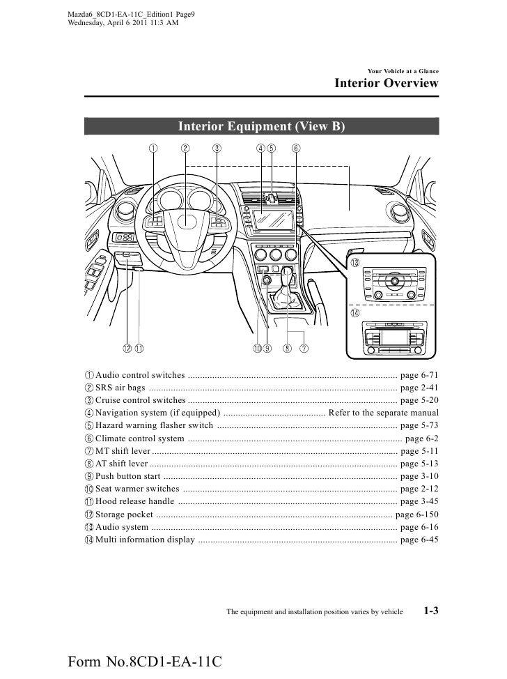2012 mazda mazda6 sedan owners manual provided by naples mazda 2012 mazda 6 wiring #14