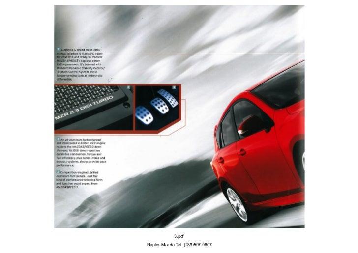 2012 Mazda Mazdaspeed3 Hatchback brochure, provided by ...
