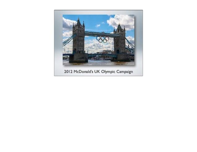 2012 McDonald's UK Olympic Campaign