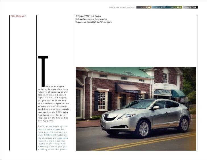 2012 Acura MDX Brochure  DCH Acura of Temecula