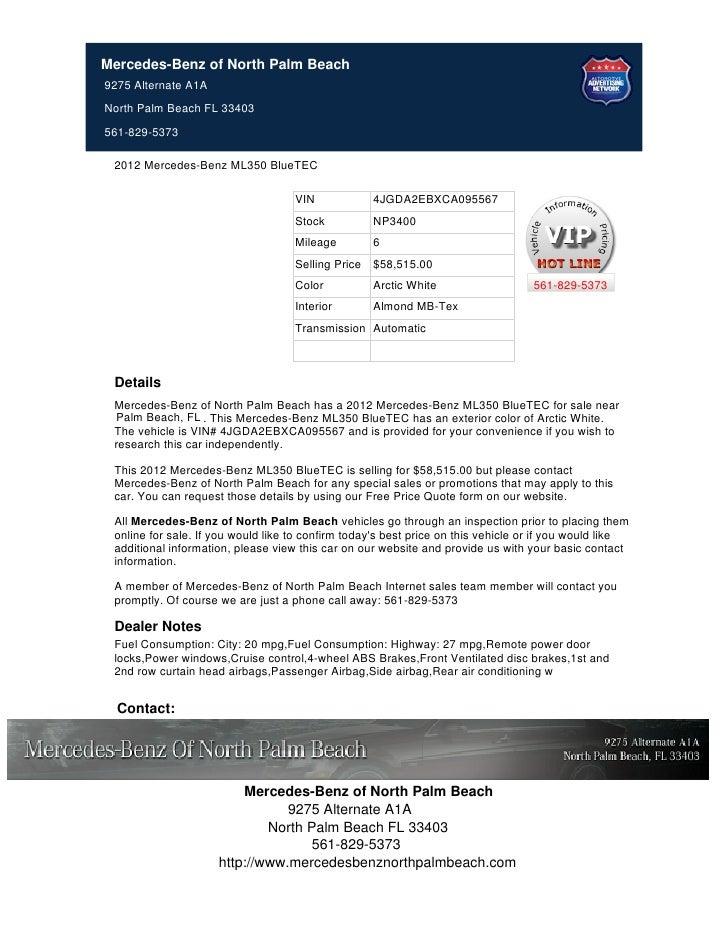 2012 mercedes benz ml350 for sale near palm beach fl for Mercedes benz of palm beach fl