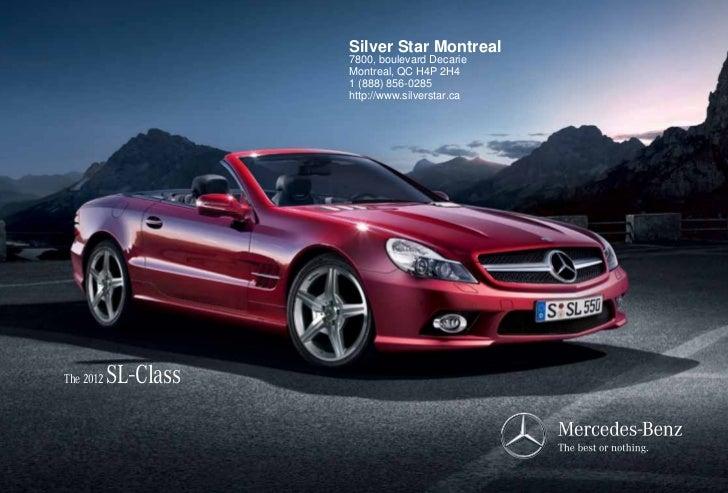 2012 Mercedes Benz Sl Class For Sale Qc Mercedes Benz