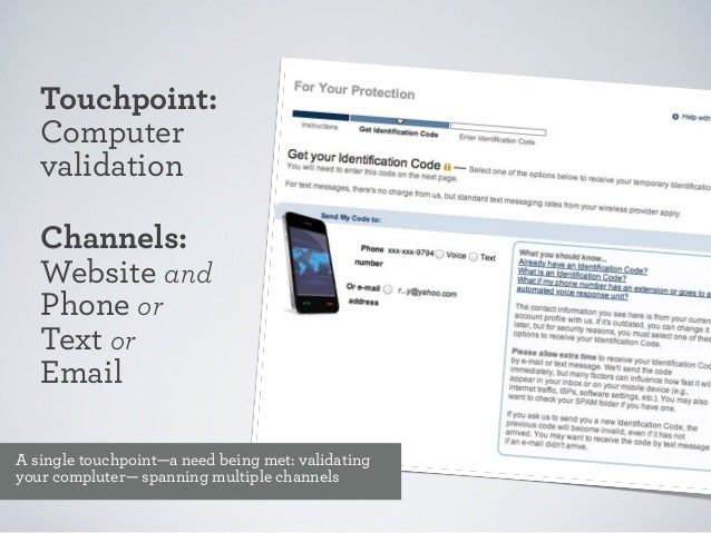 Channels define the opportunity or the constraint around the touchpoint.  Example: mobile contraint=screen size mobile oppo...