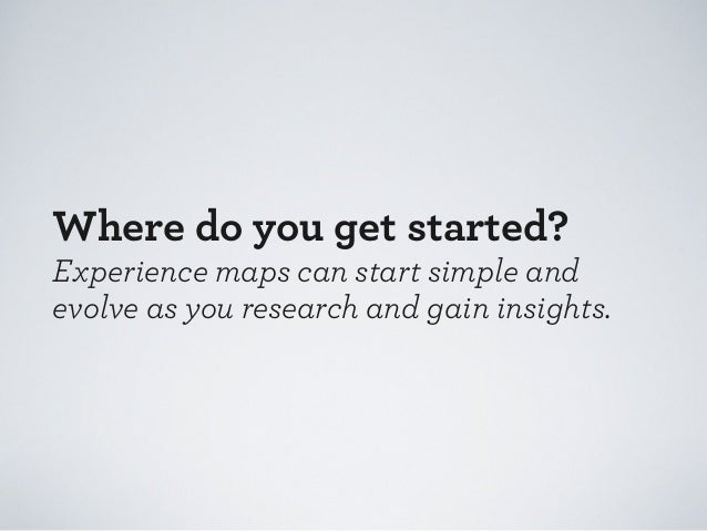 How do you do experience mapping successfully?