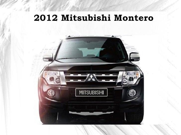 2012 Mitsubishi Montero