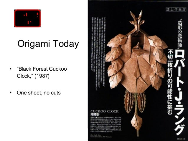 4 Origami Todayo Black Forest Cuckoo Clock