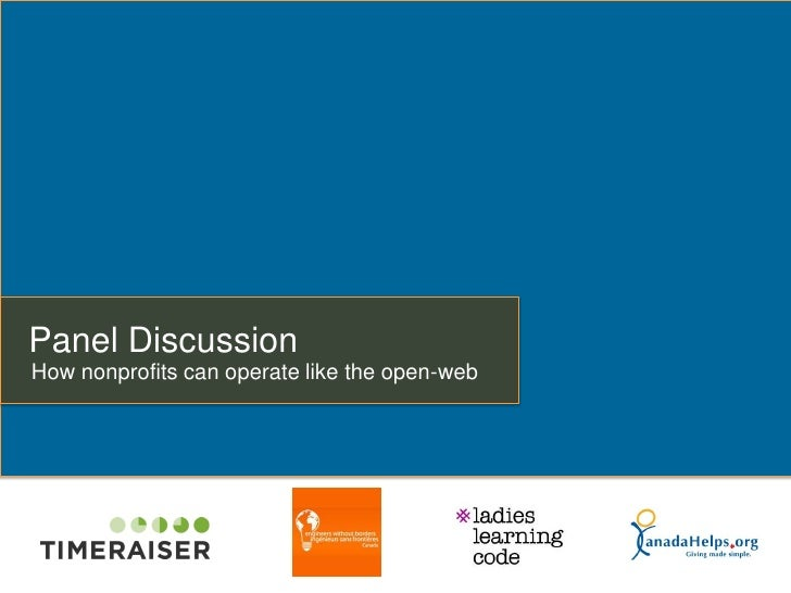Panel DiscussionHow nonprofits can operate like the open-web