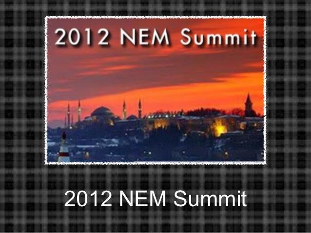 2012 NEM Summit
