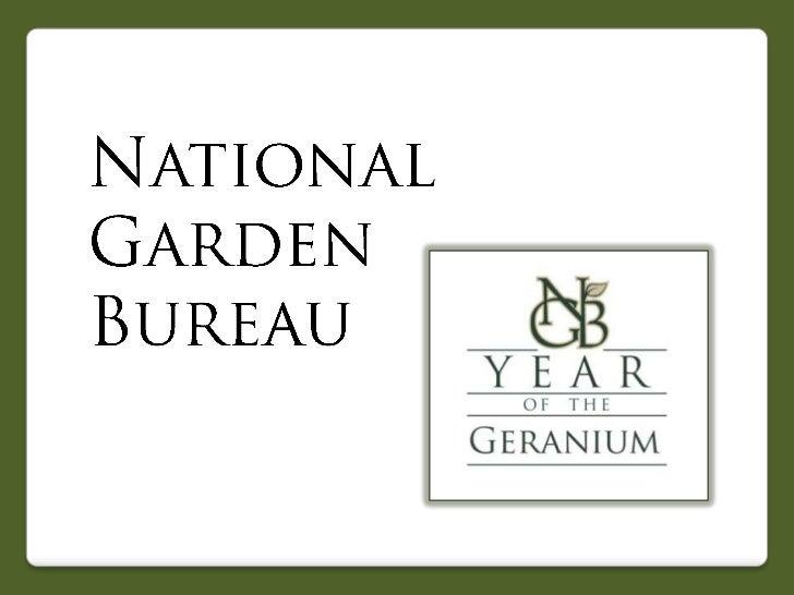 2012 National Garden Bureau Year of the Geranium